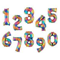 40'' Rainbow Color Large Giant Numbers Foil Balloons Birthday Party Decor New