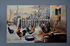 R&L Postcard: Raphael Tuck Oilette, The Poultry Farm, Hens
