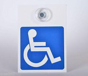 TOPP! Alu-Schild mit Saugnapf: Rollstuhlfahrer, Behindertentransport, PKW, Auto