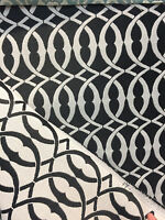 P Kaufmann Line Drawing Stone black White Upholstery drapery Fabric By the yard
