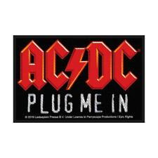OFFICIAL LICENSED - AC/DC - PLUG ME IN SEW ON PATCH ANGUS ROCK