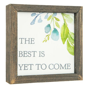 Best Is Yet To Come Floral Wood Decor. Inspirational Plaque. FREE SHIPPING