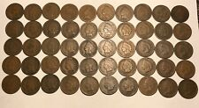 Complete Roll of 50 1889 Indian Head Cents Pennies Solid Good