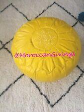 Moroccan Pouf / Floor Cushions / Footstool / Berber pouf / ottoman pouf / Yellow