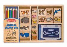 Stempelset Tiere Stempel Holz Stempelkissen 24 Teile