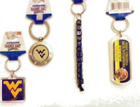4 piece lot West Virginia Mountaineers Car House Keychain Assortment  LIC NCAA