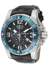 New Mens Invicta 10910 Excursion Reserve Swiss Made Chrono Black Dial Watch