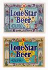 2 - 1930s LONE STAR BREWING CO, SAN ANTONIO, TEXAS LONE STAR BEER IRTP LABEL SET