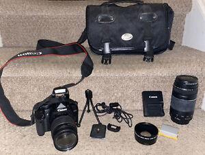 Canon EOS Rebel XSi 12.2MP Digital Camera Kit w/ 18-55mm IS W/ 75-300mm Lens