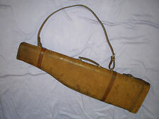 Vintage Suede / Leather Gamba di carne ovina Shot Gun Case