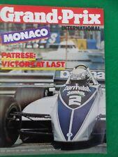Grand Prix international - May 27th 1982 - Monaco