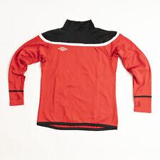 Umbro Men's Sweatshirt Red/Black/White Training Jersey Activewear
