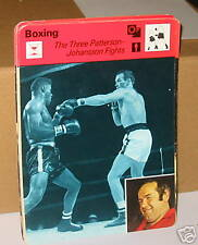 3 Pattersons-Johansson combats de boxe Carte de collection