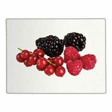 Berries Glass Chopping Board Kitchen Food Preparation Worktop Saver Protector