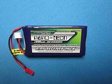 TURNIGY NANO-TECH 1600mAh 2S 6.6V 20C 40C LiFe RECEIVER PACK JST .50 & .90 HELIS
