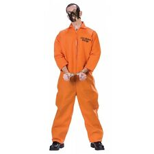 Cell Block Psycho Mental Ward Convict Prisoner Jumpsuit & Restraint Mask Costume
