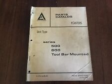 Allis Chalmers 1970 Series 500 600 Tool Bar Mounted Parts Catalog Form 9001730