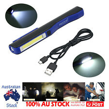 LED COB Magnetic Camping Work Lamp Inspection Light Torch Rechargeable AUS