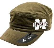 Adidas NCAA Mississippi State Bulldogs Army Green Military Hat Women's OS New