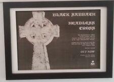BLACK SABBATH*Headless Cross*1989*ORIGINAL*A4*ADVERT*FRAMED*FAST WORLD SHIP