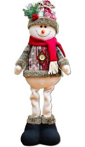 Long Leg Standing Christmas Plush Ornament Great for Table Window Side Fireplace