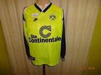 Borussia Dortmund Nike Langarm Heim Deutscher Meister Trikot 1995/96 Gr.S- M