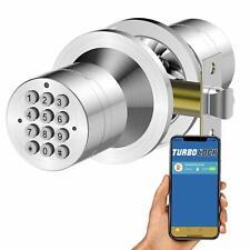 TurboLock Tl99 Bluetooth Enabled Door Knob Handle Keyless Push Button Entry