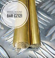 "Brass Bar Round CZ121 - 3/16 To 7/8 Dia 12"" Lengths"