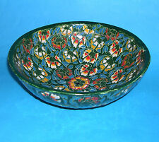 Studio Pottery Vintage Hand Made Raised Design Floral Patterned Bowl by Kog Gini