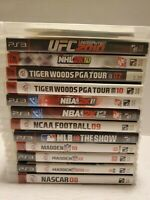 Lot Of 13 PlayStation 3 PS3 Sports Games NBA, NFL, NHL, MLB, COLLEGE, GOLF, UFC.
