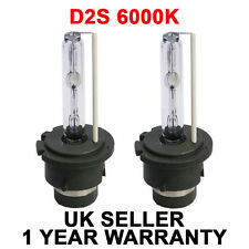 PAIR of Replacement D2S 6000K HID Xenon Bulbs 6K for PEUGEOT Upgrade