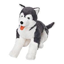 IKEA LIVLIG Soft toy BIG HUSKY DOG 60 cm, Birthday Gift Large PLUSH DOGGY -B788