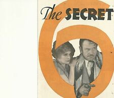 THE SECRET SIX(1931)WALLACE BEERY JEAN HARLOW ORIGINAL PRESSBOOK HERALD