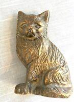 Vintage/Antique Solid Brass Cat Figural Figurine