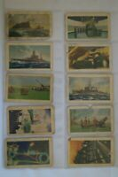 Defence Force Series 1939 Allens World War II Era Cards Lot of 10 in Sleeves