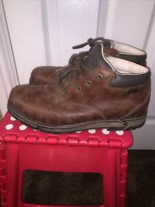 Brasher Country Walk Brown Leather Mens Walking Boots Size Uk 10