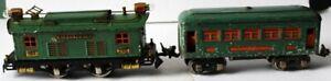 O Lionel Prewar Tin Electric Locomotive 253 and Pullman Passenger Car