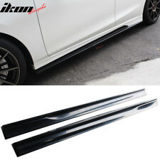 Fits 14-18 Mazda 3 K-Style Side Skirts Step Extensions - Unpainted ABS