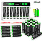 AAA AA Rechargeable Batteries 1100/2800mAh 1.2V Ni-MH / 8 Slots LCD Charger Lot