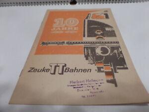 Katalog Zeuke 1968 DDR selten Tillig BerlinerTTBahnen Piko Rokal Spur TT