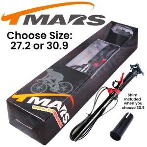 TMARS 419L 27.2 / 30.9 x 445mm Dropper Seatpost w/Remote Post MTB Downhill Bike