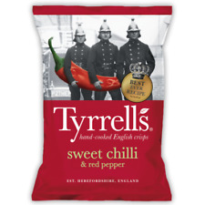 Tyrrells Crisps   Sweet Chilli & Red Pepper Flavour   Full Case 24x40g