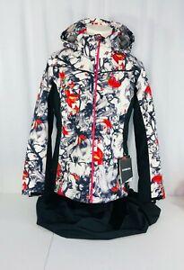 Karbon womens amethyst print ski jacket color dt print size 14