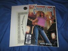 EMMA FROST #9 Marvel Comic Signed by Greg Horn w/COA  (X-MEN/WHITE QUEEN)
