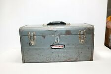 "VTG Sears Craftsman Model 6500 Toolbox & Socket Tray 18"" Tool Box Gray Steel"