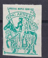 1971 STRIKE MAIL KING ARTHURS KNIGHTS POSTAL SERVICE GREEN ON WHITE STAMP MNH