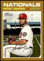 Anibal Sanchez 2020 Topps Heritage 5x7 Gold #15 /10 Nationals