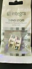 2 INTEGRA MONORAIL / DECORAIL CURTAIN TRACK END STOPS STOPPERS