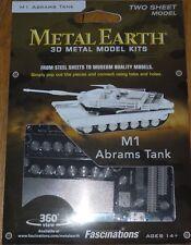 M1 Abrams Tank Metal Earth 3D Laser Cut Metal Model Kit Fascinations MMS206