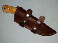 Louis Martin Custom Made  Olive Wood Handle Hunting Skinner Knife & Sheath